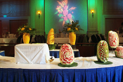 Fruit carvings by Ruben Olano for Disneyland Hotels