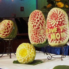 Fruit carvings Mother's Day