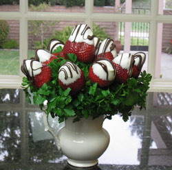 Fruit Carvings Chocolate Strawberry Bouquet
