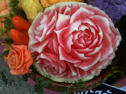 Thai Style watermelon carving