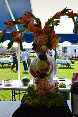 First place pro fruit and vegetable carving by Nicole Bennett