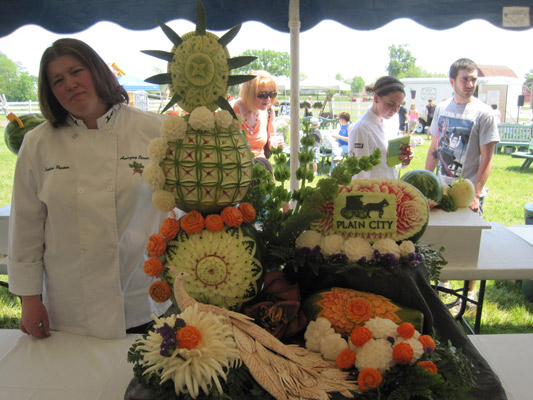 Second place Pro fruit and vegetable carving by Svetlana Partem