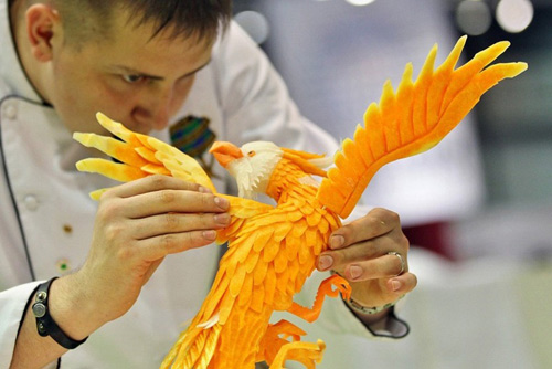 Nefedov eagle bird carving