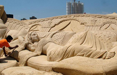 Sand Sculptures by