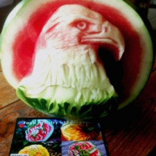 Carl Jones' 4th of July watermelon carving
