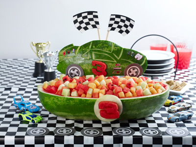 Nascar carving for National Watermelon Day