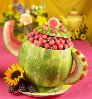 TeaPot carving for National watermelon Day