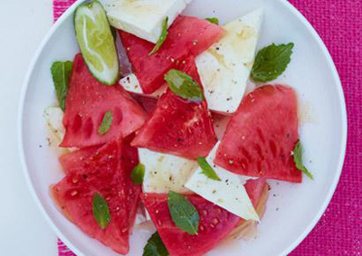 Watermelon ideas with feta and basil
