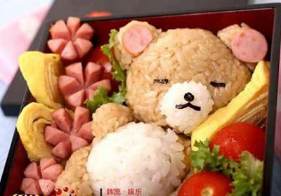 bento bear food art