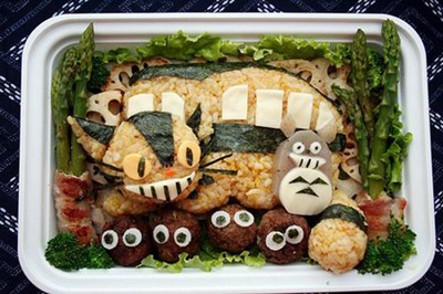 cat bento food art