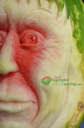 Nita's watermelon man carving