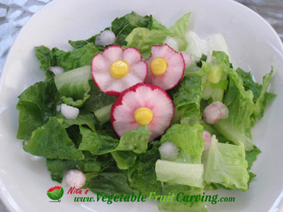 Nita's radish flower food art