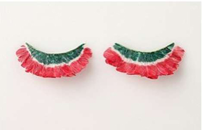 wacky watermelon ideas eyelashes