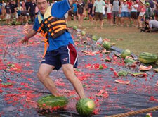watermelon ideas skiing on watermelons