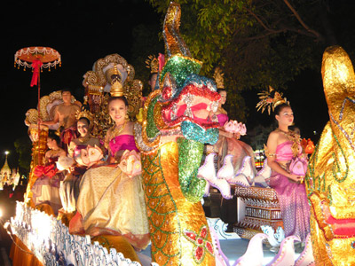 Beauty pageant festival of lights