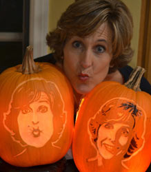 Nita portait pumpkin carvings