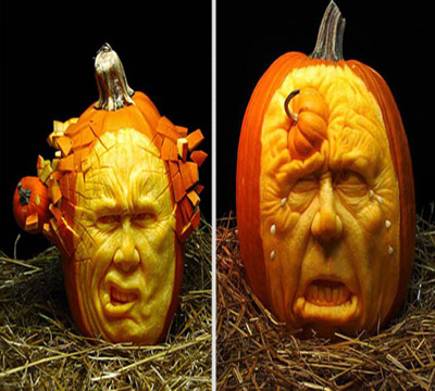 Ray villafane 39 s viral pumpkin carvings for Pumpkin sculpting tutorial