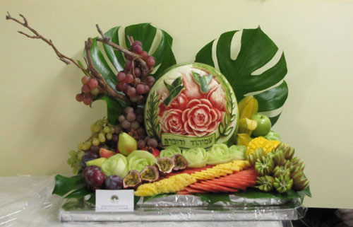 Another of Tzipy's outstanding fruit centerpieces