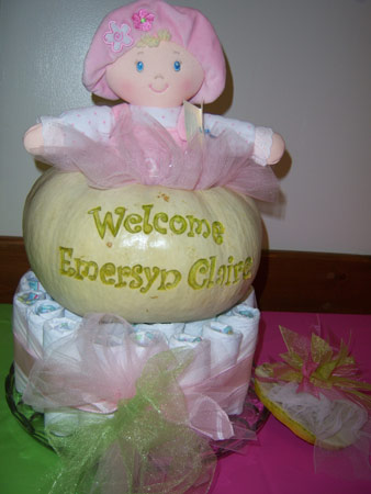 white pumpkin carving for baby shower