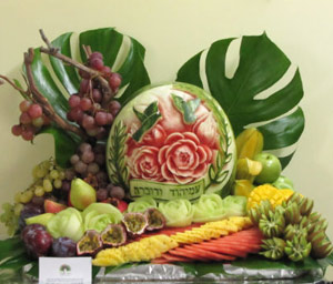 fruit centerpiece display