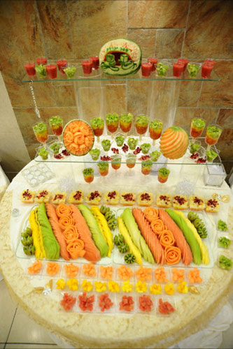 Fruit Display with single servings