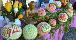 Thai Fruit Carvings at Loy Krathong Festival