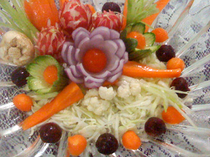vegetable garnishes