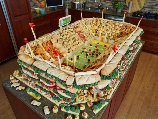 Superbowl food feast