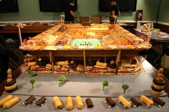 Super bowl food stadium