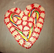 candy heart plate
