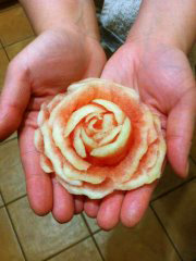 Jana Phung learns to carve watermelon roses