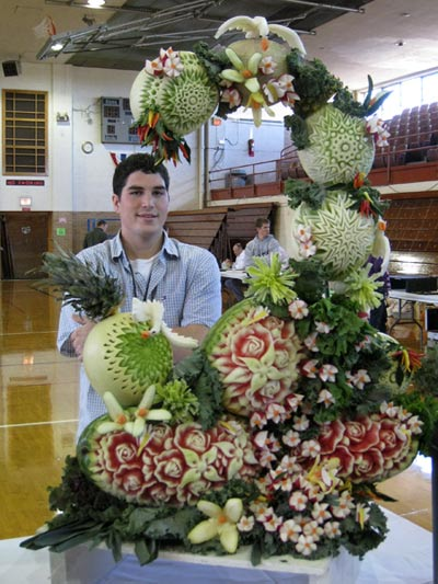 Sugar dome fruit carving competition on food network