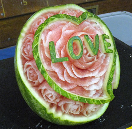 love carved watermelon