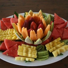 Fruit Tray with Melon lotus bowl