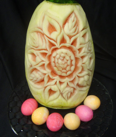 Easter Watermelon Carving by Abby Viera