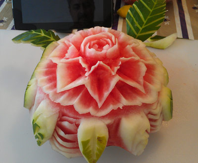 watermelon rose cake by Arturo Garcia