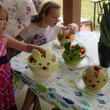 Melon bunnies by Carol Cameron