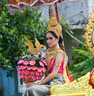 Songkran queen of Water Festival