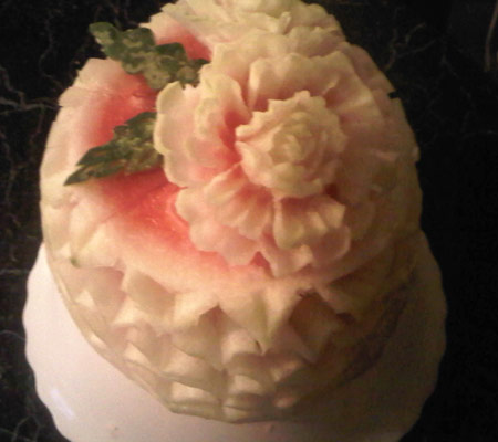 Frilly watermelon cake by Michelle Malcolm.