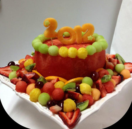 cake made from watermelon by Titi Ayodele