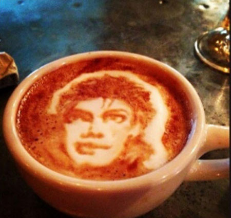 Another of Mike Breach's coffee portraits - Michael Jackson