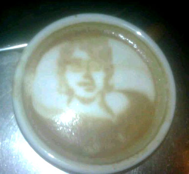 Mike Breach 2nd attempt at coffee art