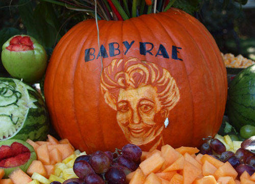 pumpkin portrait for 90th birthday