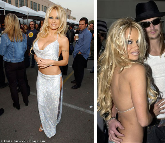 Pamela Anderson and Kid Rock at the American Music Awards