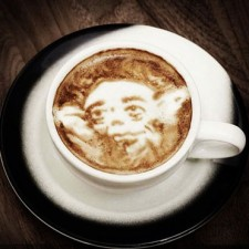 Yoda - coffee art