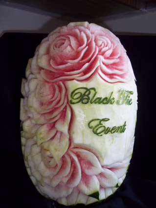 Black Tie Events Watermelon Carving by Yolanda Diaz