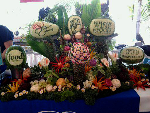 Vegetable Fruit Carving display by Ric Testani