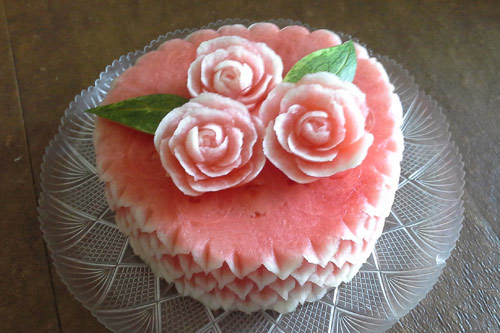 watermelon cakes by Rose Flores - side view