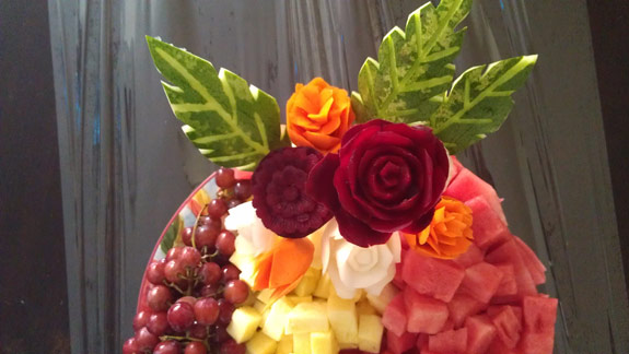 beet and carrot flowers