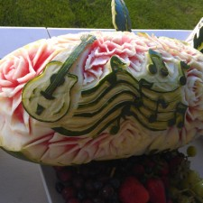 musical watermelon carving
